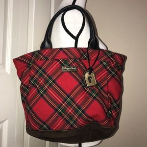 Dooney & Bourke red tartan purse Large